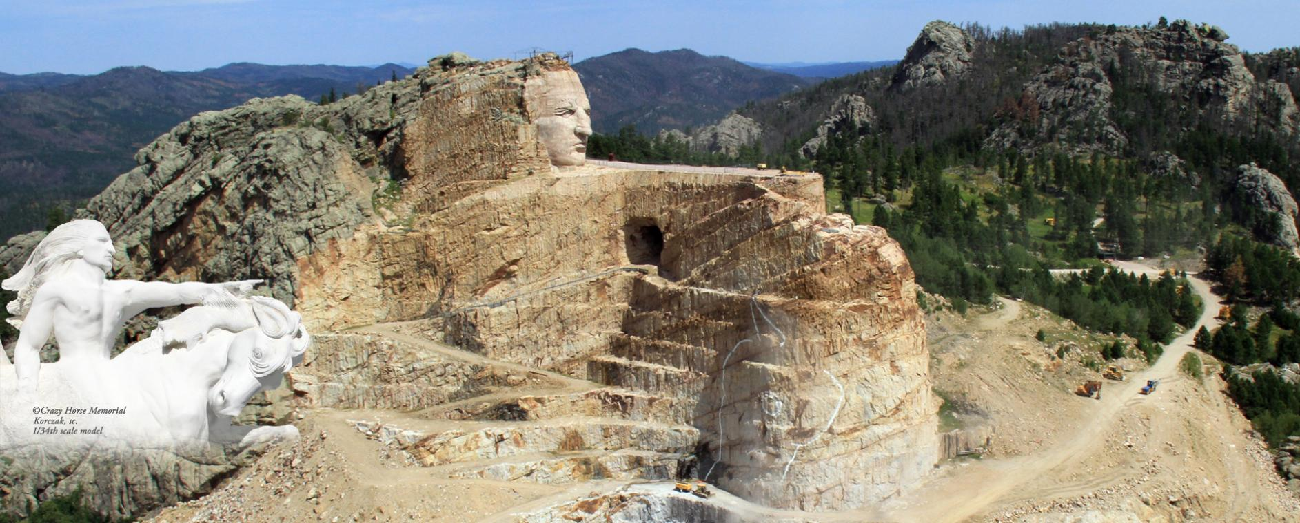 A picture of the great Crazy Horse Memorial!